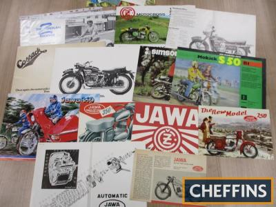 Jawa, Puch, Simson, Cossack, a qty of motorcycle brochures