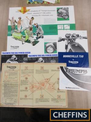 Triumph Motorcycles, brochures together with a lubrication chart
