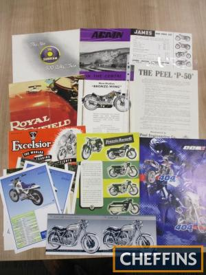 Sunbeam, Scott, New-Hudson, Excelsior etc., a qty of motorcycle brochures