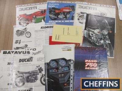 Ducati, Moto Guzzi, Benelli etc., a qty of brochures 1970s onwards