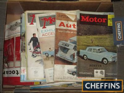 Qty of period motoring magazines, The Motor, Autocar etc
