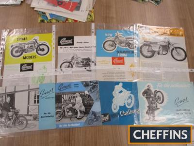 Greeves, 8 motorcycle brochures for road and competition machines