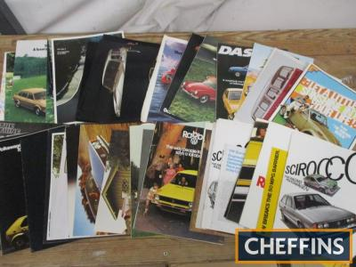 VW, a large qty of car brochures 1973-77