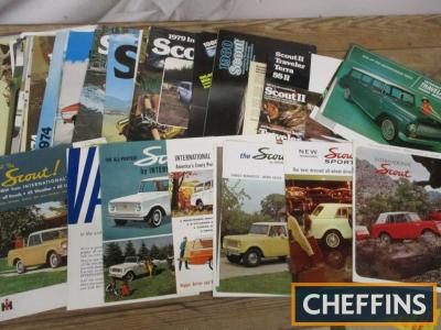 International, a good qty of utility vehicle brochures 1960s and 70s