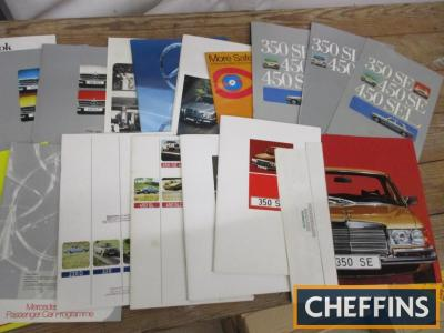 Mercedes car brochures, a good qty 1973-74