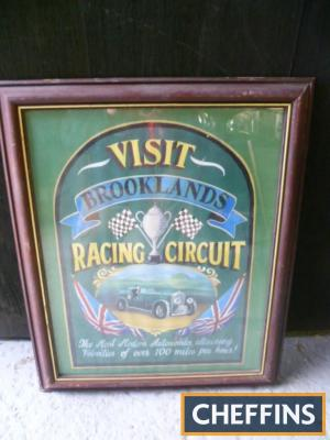 Hand finished picture `Visit Brooklands`