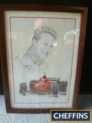 Michael Schumacher limited print