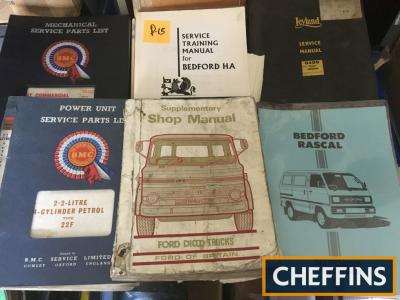 Commercial vehicle workshop manuals Bedford HA 1964, Leyland diesel, Ford trucks 1968, BMC power units, 1967-69 Gardner diesel