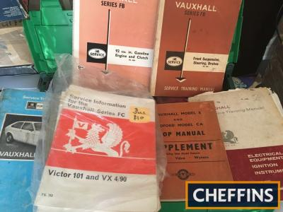 Vauxhall/Bedford workshop manuals - Victor 101/Vx490-FB/HA series Chevette along with early AA handbooks 1929/30/37 -1957-597