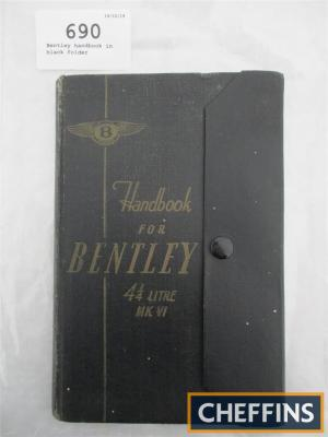 Bentley handbook in black folder
