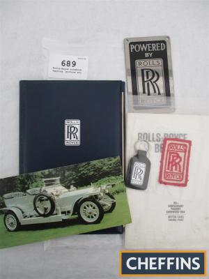 Rolls-Royce notebook, keyring, picture etc