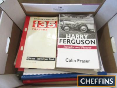 Box of 8no. Massey Ferguson books and workshop manuals
