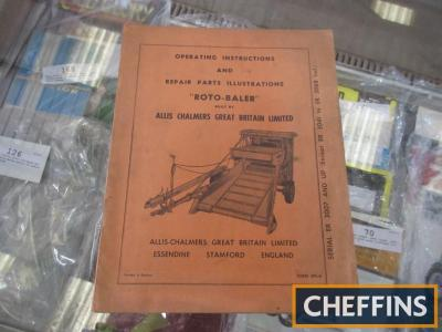 Operating manual and repair parts instructions for an Allis Chalmers Rotobaler