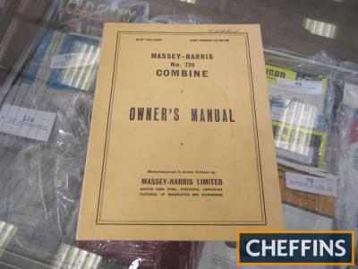 Owners manual for a Massey Harris 726 combine