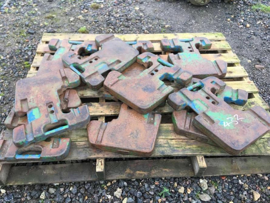 10no. John Deere Front Wafer Weights