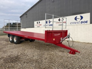 **PLEASE NOTE TYRE DESCRIPTION CHANGE** 2020 MARSHALL TRAILERS BC25 12T BALE TRAILER NEW & UNUSED, REAR TOOLBOX HARVEST LADDERS WALKING AXLES, 8 STUD 400/60 R22.5TYRES, HYDRAULIC BRAKES -(SERIAL NO 107122) (11173599) (MANUFACTURERS WARRANTY APPLIES)
