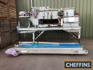 Herbert pre cleaner (incomplete) c/w 13ft x 4ft belt under screen and 6ft rubber 35mm screen unit 13ft 6ins long, 7ft 6ins wide, 8ft high with adjustable legs. Missing 1no. motor/gearbox and end belt, 3phase Location: South Petherton