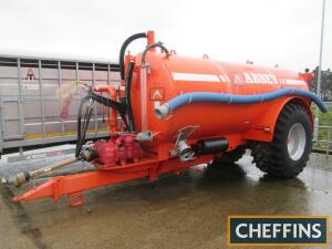 2017 Abbey 3000R 3000gallon single axle slurry tanker fitted with uprated 13,500L/min pump, air brakes, Centivac 360° slurry gun, LED lights on BKT 800/65R32 wheels and tyres. (Used only for a days work emptying a lagoon) Serial No. D60276