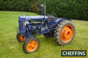 1951 FORDSON E27N Major diesel P6 6cylinder diesel TRACTOR Fitted with Perkins P6 diesel engine, STD:44 low gear box, electric start, pulley wheel front lights and rear wheel weights on 12.4/11-36 rear and 6.00-19 front wheels and tyres