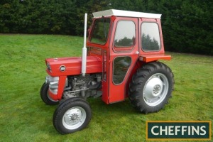 1984 MASSEY FERGUSON 135 3cylinder diesel TRACTOR Fitted with PAS, PUH, foot throttle and QD cab on 12.4-28 rear and 6.00-16 front wheels and tyres. V5C available Reg. No. XAY 555S Serial No. 481388