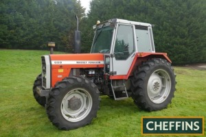 1984 MASSEY FERGUSON 699 4wd diesel TRACTOR Fitted with Synchro 12 and PUH on 420/85 R38 rear and 340/85 R38 front wheels and tyres. V5C available Reg. No. B900 KUT Serial No. T167003 Hours: 7,048 FDR: 01/08/1984