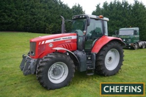 2009 MASSEY FERGUSON 7490 Dyna-VT 4wd TRACTOR Fitted with front linkage, PUH and front suspension on Trelleborg 620/70R42 rear and 480/70R30 front wheels and tyres. V5C available Reg. No. FX09 DXD Serial No. U021075 Hours: 6,344 FDR: 02/03/2009