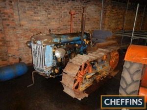 1951 FORDSON E27N COUNTY FULL TRACK 6cylinder diesel CRAWLER TRACTOR Fitted with Perkins P6 diesel engine, electric start and lights Serial No. 1665