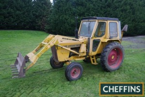 1981 DAVID BROWN 995 2wd TRACTOR Fitted with LQ9 front loader, rear Boughton 2290 winch and anchor and PAS, V5C available Reg. No. OEG 364X Serial No. 11105240