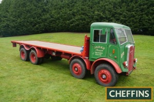 1955 AEC Mammoth Major 8wheel RIGID FLATBED LORRY Fitted with 25ft bed. V5C available Reg. No. RGP 77 Serial No. 38712012