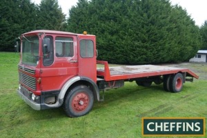1968 AEC Mercury BEAVERTAIL FLATBED LORRY Fitted with Sealey electric winch, wooden body, converted from fire engine and approx 18ft bed. V5C available Reg. No. SDE 49G Serial No. TGM4R3445