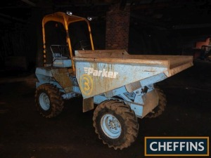 PARKER RJE 2500 2.5tonne 4wd DUMPER Fitted with safety frame and 2cylinder Petter diesel engine Serial No. 30843