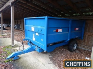 2008 AS Marston SAP 6.5tonne steel monocoque tipping trailer Serial No. 215193