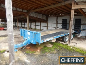 AS Marston 15ft tandem axle flat bed beavertail trailer