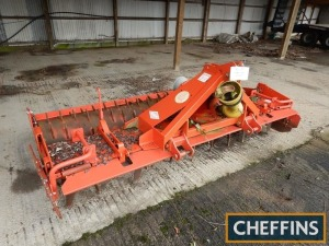 Kuhn HR3001 mounted power harrow with packer roller, 3m. Refurbished by Andrew Guest