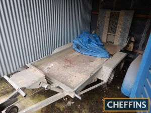 Ifor Williams GH94 tandem axle plant trailer Serial No. SCK60000070510795