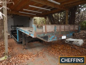Tandem axle step frame low loader trailer Chassis No. 140G7073