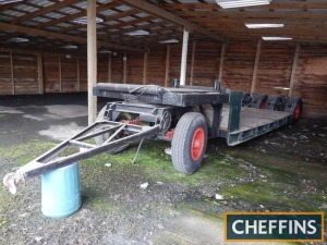 Carrimore low loader trailer with knock-out rear axle and turntable front axle (approx 15ft bed)
