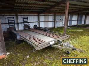 Savage F/B tandem axle vehicle trailer with ramps