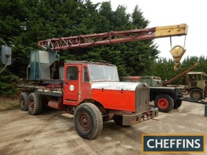 THORNYCROFT Amazon 6wheel 6cylinder CRANE LORRY Fitted with 1943 Coles EMA MK VII crane and Thornycroft 6cylinder engine. V5C and green log book available Reg. No. DBC 603C Serial No. 43654