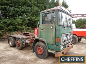 1984 ERF C Series 6x2 TRACTOR UNIT Fitted with Hyva tipping gear. HPI checks show an active registration number, but no documentation is available Reg. No. B167 LNR Serial No. 50133 Mileage: 520,530kms