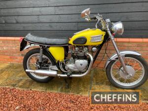1961 500cc Triumph 5TA Speed Twin MOTORCYCLE Reg. No. RAS 984 Frame No. H22325 Engine No. H22325 A matching numbers example of the 5TA, which has just 3 owners from new, the last two being father and daughter. The yellow Triumph has seen the usual modific