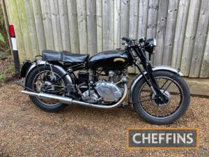 1952 499cc Vincent Comet Series C MOTORCYCLE Reg. No. MVS 667 Upper and Lower Frame No. RC1 10405 Engine No. F5AB/2A/ 8505 A matching numbers Series C Comet, that is complete with Owners Club verification and copies of the original factory Completion Note