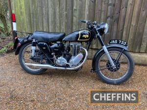 1953 349cc AJS 16MS MOTORCYCLE Reg. No. JAS 733 Frame No. 93093 Engine No. 53/16M 18039 A beautifully appointed motorcycle, that appears to have been restored around 2003. There is much attention to detail and practicality with the addition of a luggage r