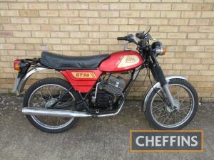 1981 49cc BSA GT50/Beaver MOTORCYCLE Reg. No. FHU 338W Frame No. 2001 Engine No. 4R2248 A rare machine, that has seen mixed fortunes having been a shed find then restored and now requiring some work again. The accompanying file contains a dating certifica