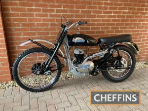 1955 197cc Greeves 20T Trials MOTORCYCLE Reg. No. FSJ 284 Frame No. 5032T Engine No. 491A/10763 An extremely uncommon example of Greeves second year of production trials machine, the vendor understands this to be one of only six examples known by the owne
