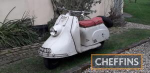 1956 174cc Heinkel Tourist Scooter Reg. No. OMR 899 (Expired) Frame No. 145449 Engine No. TBA Built in West Germany by the ex-aircraft factory and much ahead of its time with an electric start 4-stroke, single cylinder engine which, according to legend, w