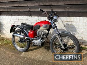 1958 199cc Triumph Tiger Cub MOTORCYCLE Reg. No. 280 XVC Frame No. T45515 Engine No. T2072528 A very smartly prepared example in trials trim with high level exhaust, fitted with a 1960 engine (originally supplied to Hallens) and a Japanese uprated front e