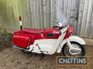 1966 249cc Ariel Leader MOTORCYCLE Reg. No. HOW 86D Frame No. T27263B Engine No. T2726B A beautifully restored Leader, that was originally supplied by Alec Bennet Ltd of Southampton. According to the two green RF60 logbooks supplied, the Ariel stayed arou