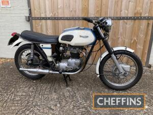 1971 649cc Triumph TR6P Trophy MOTORCYCLE Reg. No. JGY 254K Frame No. GE25233 Engine No. PG39779 Stated to be an ex police machine and still wearing white paint with later embellishments, the non-matching numbers TR6P has been in the current ownership for
