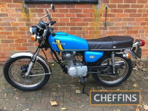 1976 124cc Honda CB125J MOTORCYCLE Reg. No. LJJ 551P Frame No. TBA Stated to be in very good condition with just 3 owners recorded, a recent restoration by the owner has been completed with as many original parts retained as possible. We are told the Hond